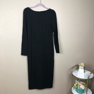 Talbots NWT midi black dress
